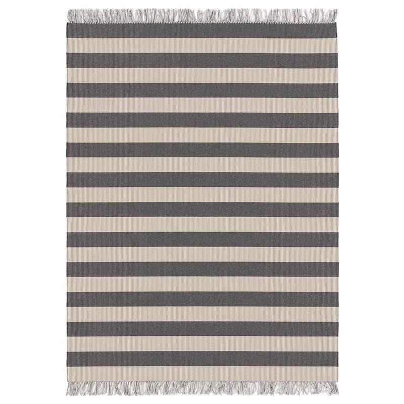 Woodnotes Big stripe rug, melange grey - light sand