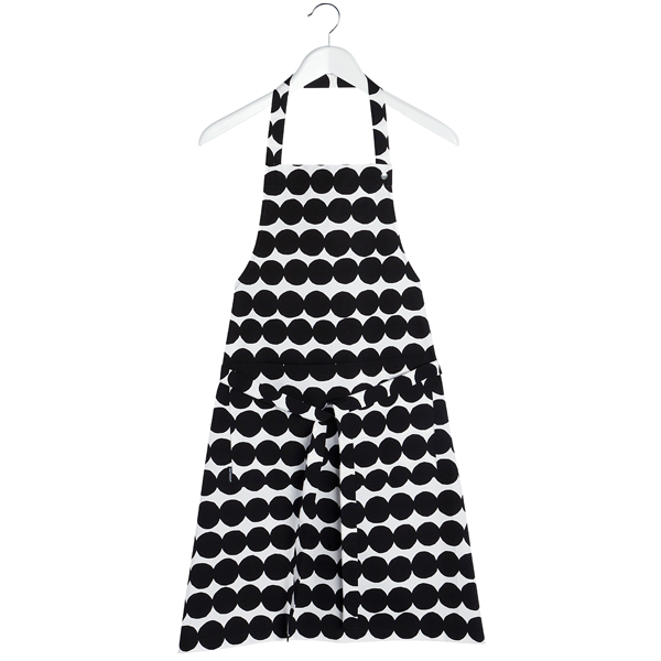 Marimekko Räsymatto apron, black-white