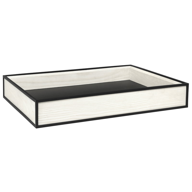 By Lassen Frame tray, white stained ash