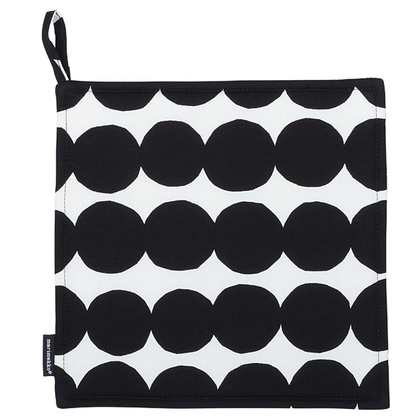 Marimekko Räsymatto pot holder, black-white