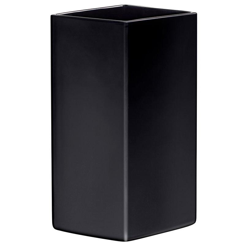 Iittala Ruutu ceramic vase, 330 mm, black