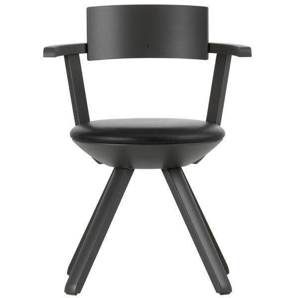 Artek Rival chair KG002, dark grey/leather