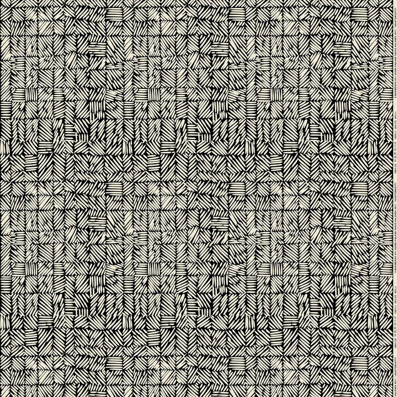 Marimekko Juustomuotti fabric, black - off white