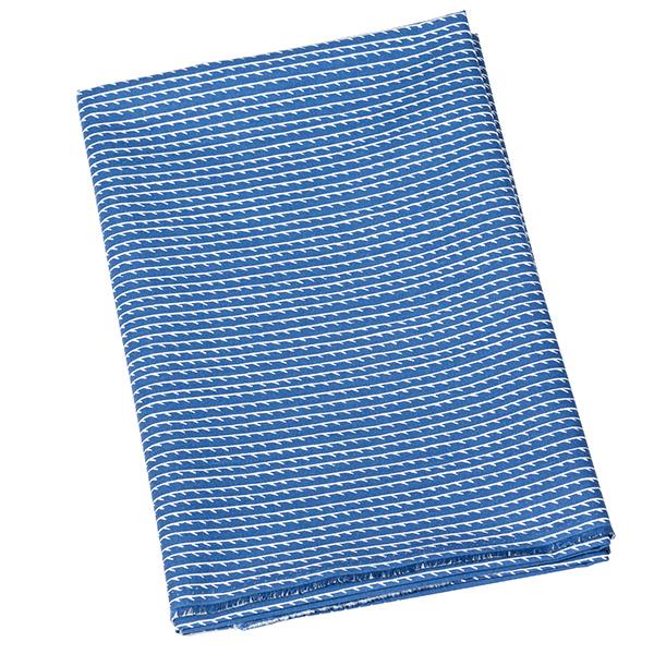 Artek Rivi canvas cotton fabric, 150 x 300 cm, blue-white