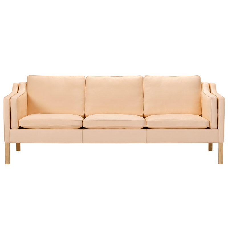 Fredericia Mogensen 2213 sofa, natural leather - soaped oak
