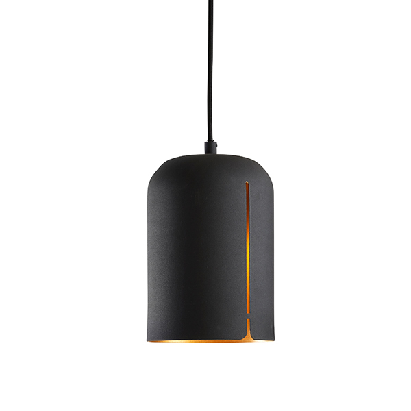 Woud Gap pendant, short, black