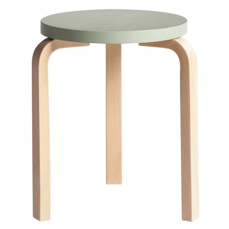 Artek Aalto stool 60, green - birch
