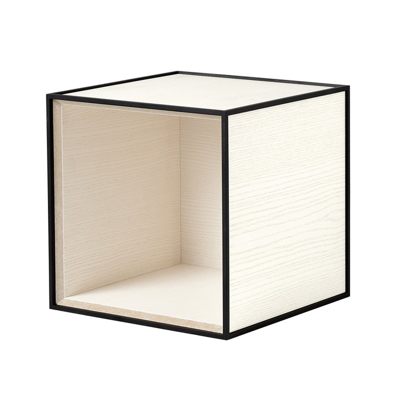 By Lassen Frame 28 box, white stained ash