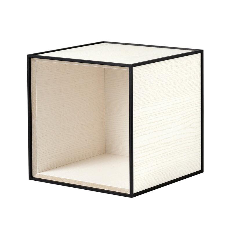 By Lassen Frame 28 laatikko, valkoiseksi petsattu saarni