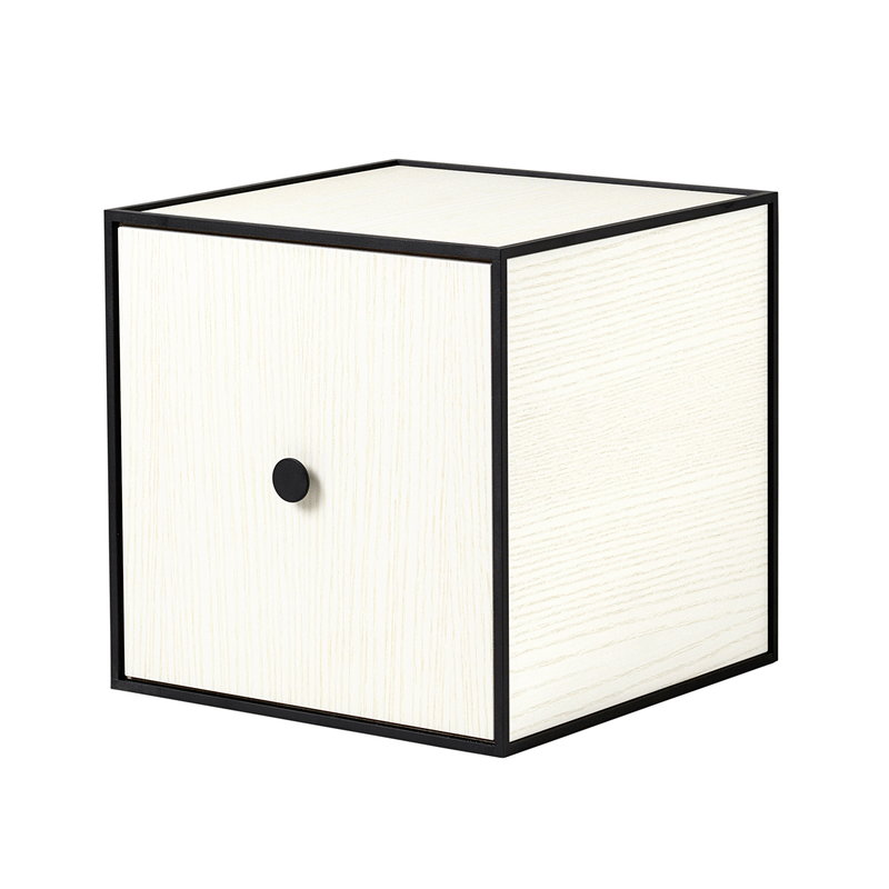 By Lassen Frame 28 box with door, white stained ash
