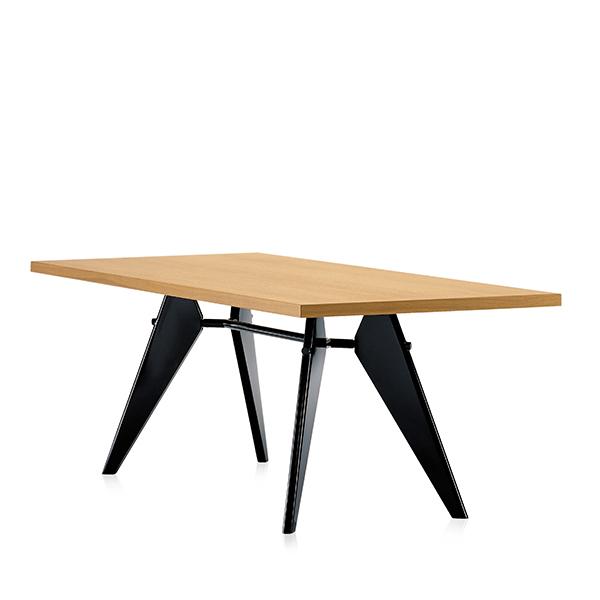 Vitra Em Table 200 x 90 cm, tammi - musta