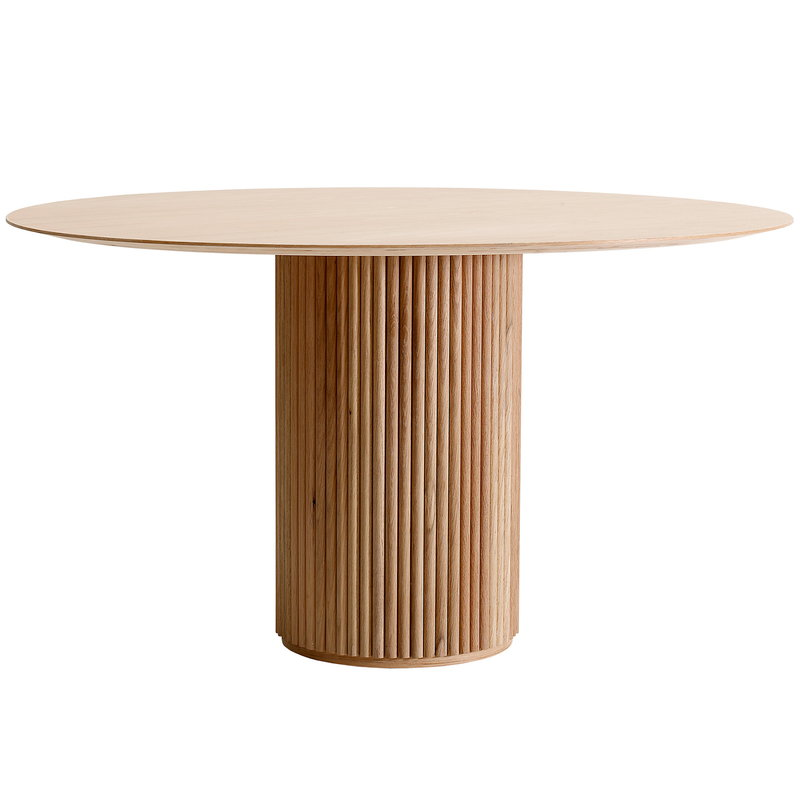 Asplund Palais Royal dining table, white stained oak
