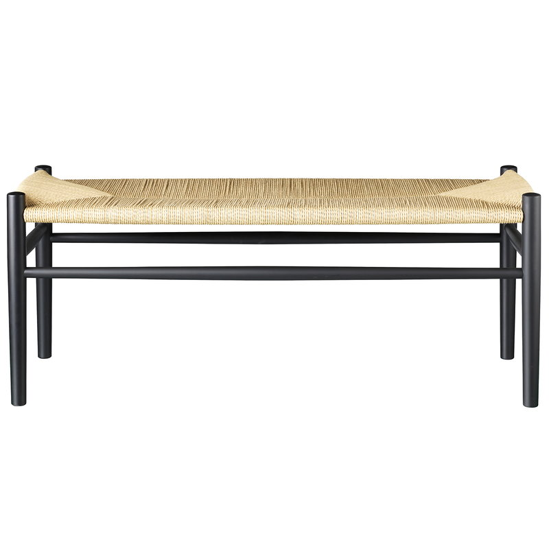 FDB Møbler J83B bench, black - natural