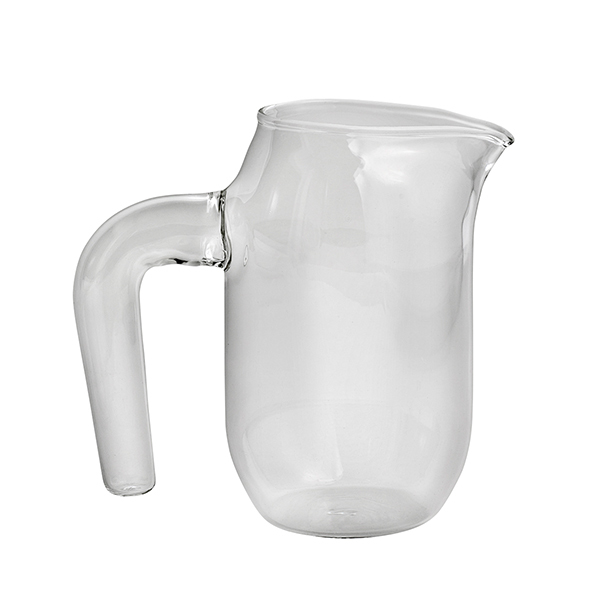 Hay Jug with handle, S, clear