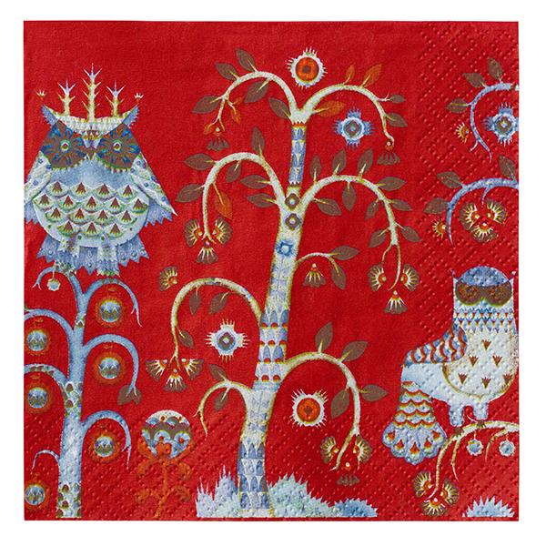 Iittala Taika paper napkin 33 cm, red