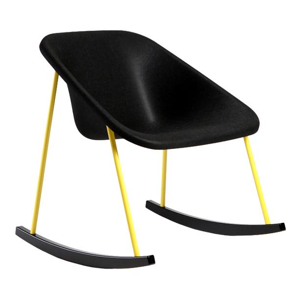 Inno Kola Light rocking chair, black-yellow