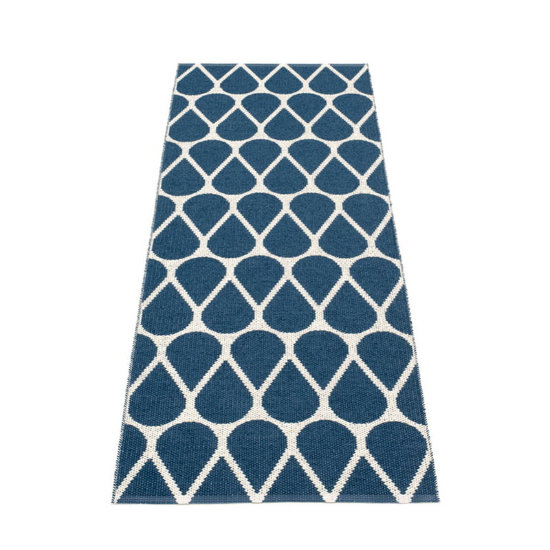 Pappelina Otis rug 70 x 200 cm, ocean blue - vanilla