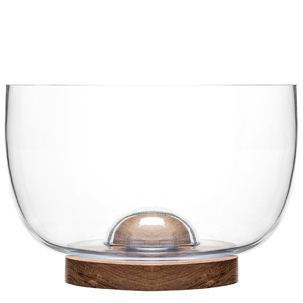 Sagaform Oak glass bowl