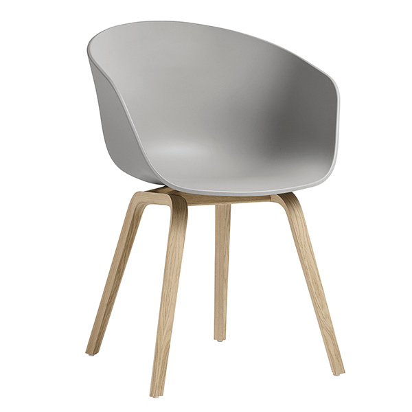 Hay About A Chair AAC22, concrete grey - oak