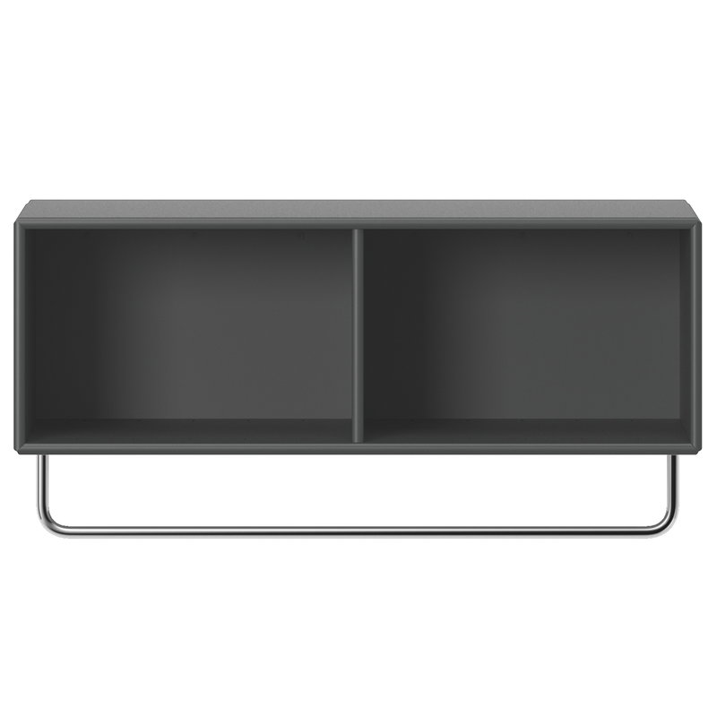Montana Furniture Coat hattuhylly vaatetangolla, 04 Antracite