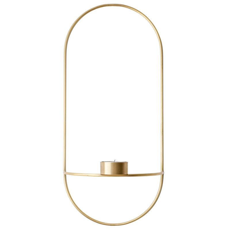 Menu POV Oval tealight candleholder, brass
