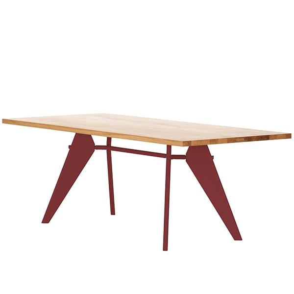 Vitra Em Table 240 x 90 cm, oak - japanese red