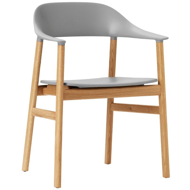 Normann Copenhagen Herit armchair, oak - grey
