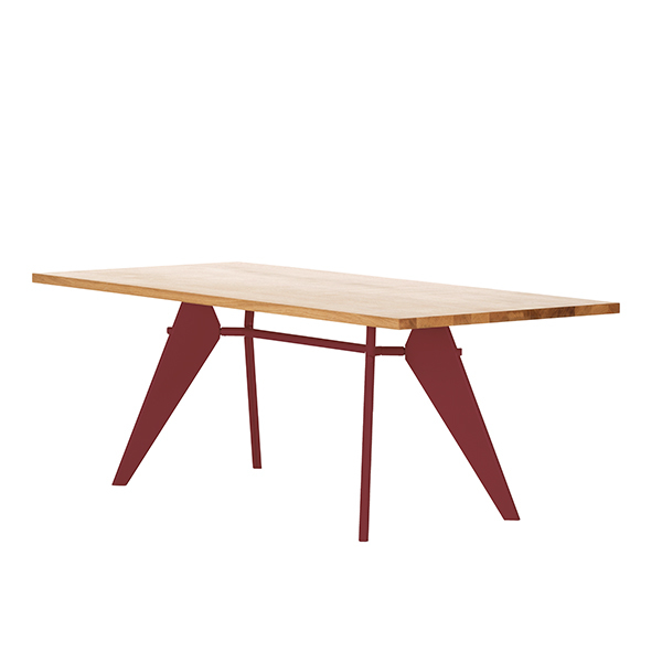 Vitra Em Table 200 x 90 cm, tammi - japanese red