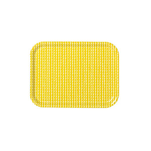 Artek Rivi tray, 27 x 20 cm, mustard-white