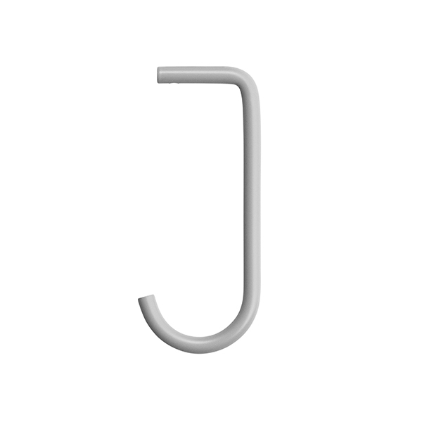 String Ganci String + per mensola metallica, set di 5, grigi