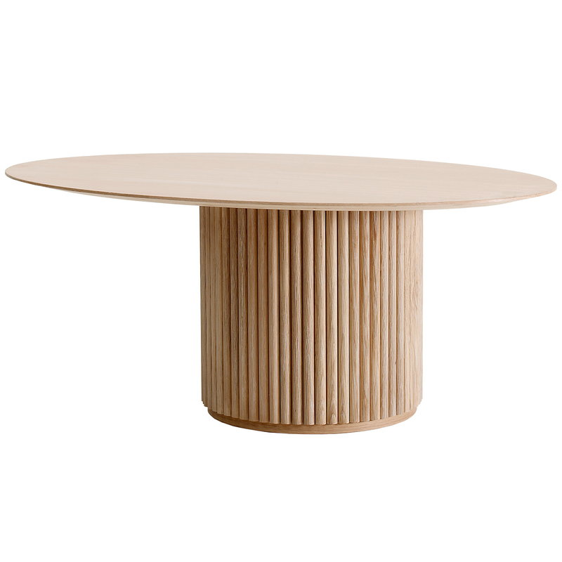 Asplund Palais Ovale coffee table, white stained oak