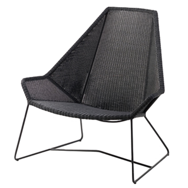 Lounge sofa outdoor günstig  Cane-line Breeze highback chair, black | Finnish Design Shop