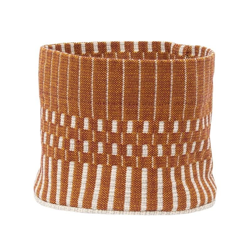 Johanna Gullichsen Helios fabric basket XS, brick