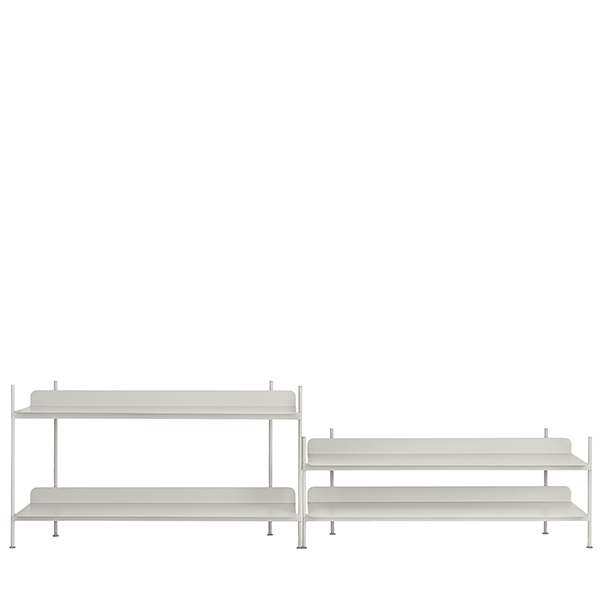 Muuto Compile shelf, Configuration 5, grey