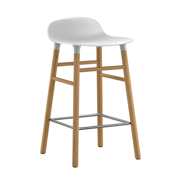 Normann Copenhagen Form barstool 65 cm, white - oak