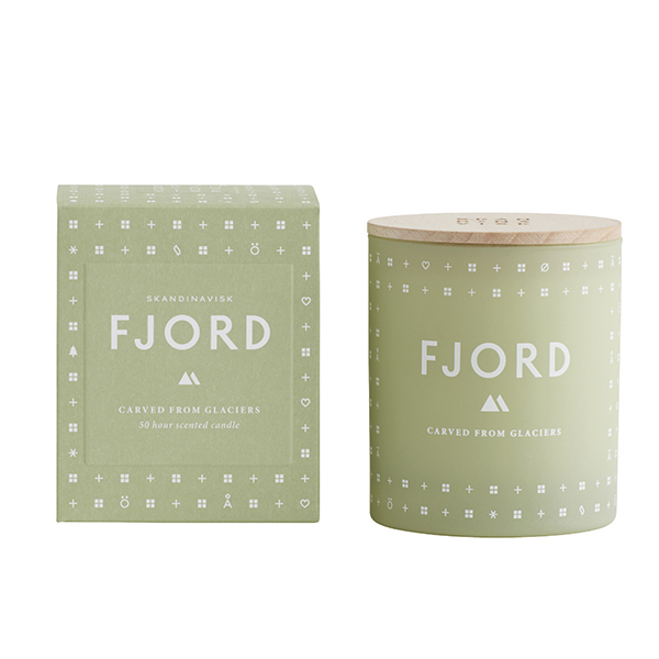Skandinavisk Scented candle with lid, FJORD