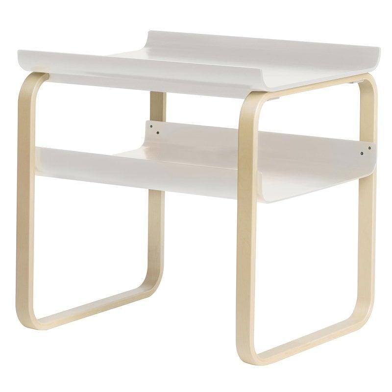 Artek Aalto side table 915, white - birch