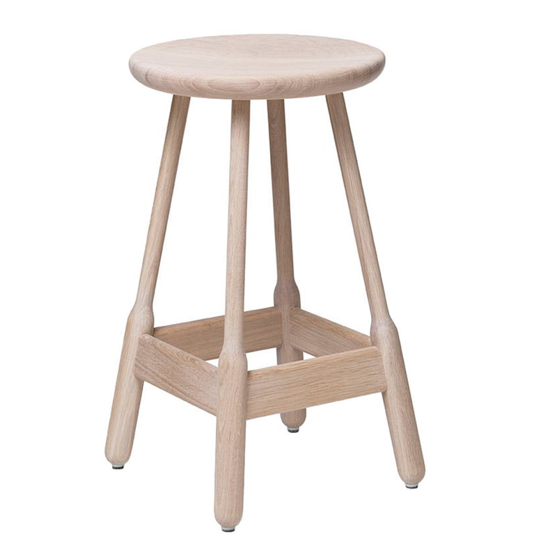 Massproductions Albert bar stool, white oiled oak