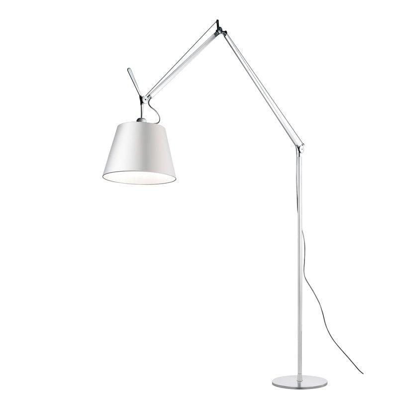 Artemide Tolomeo Mega floor lamp 42 cm, aluminium - silk