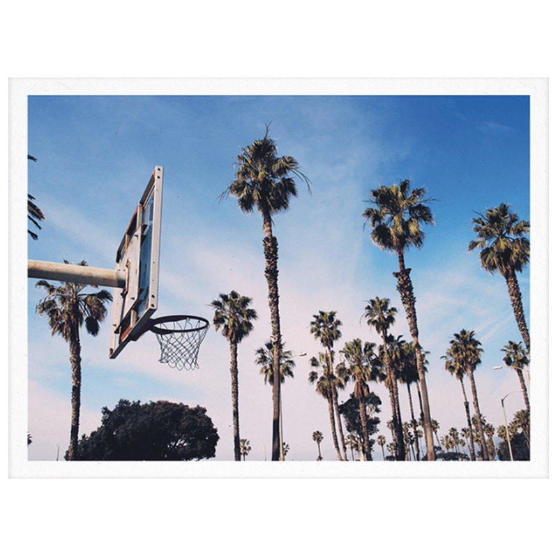 Paper Collective Poster Cities of Basketball 02 (LA)
