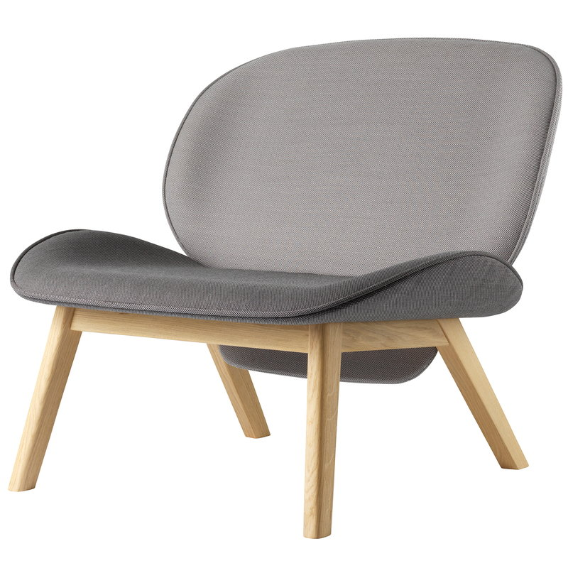 FDB Møbler L32 Suru lounge chair, dark grey - light grey