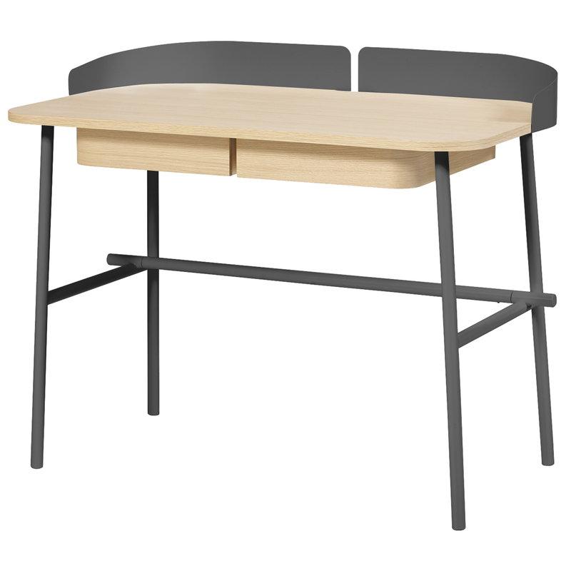 Harto Victor desk, oak - slate grey