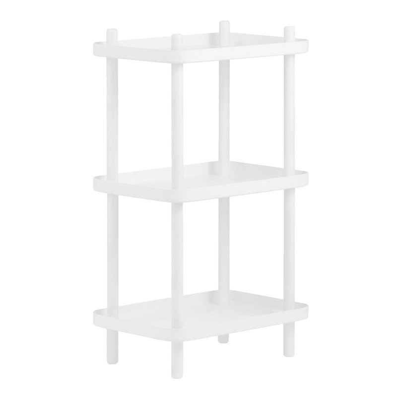 Normann Copenhagen Block shelf unit, white