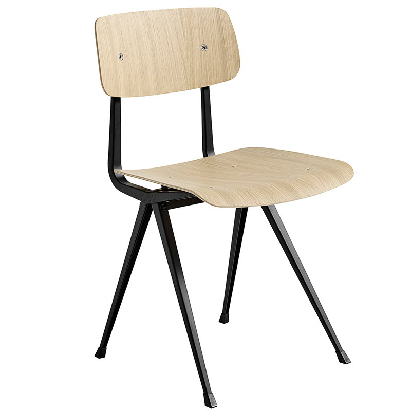 Hay Result chair, black - matt lacquered oak