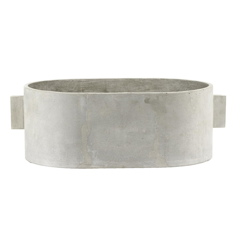 Serax Concrete plant pot oval, 55 x 36 cm, grey