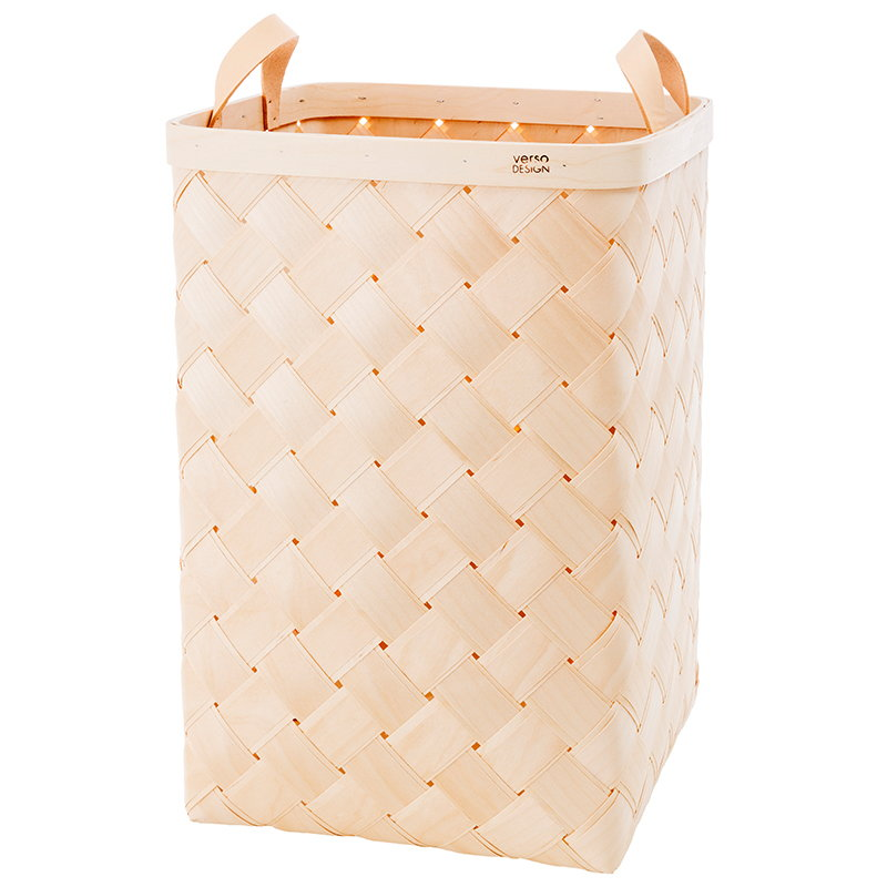 Verso Design Lastu maxi basket, leather handles