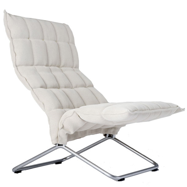 Woodnotes K chair, wide, natural/white