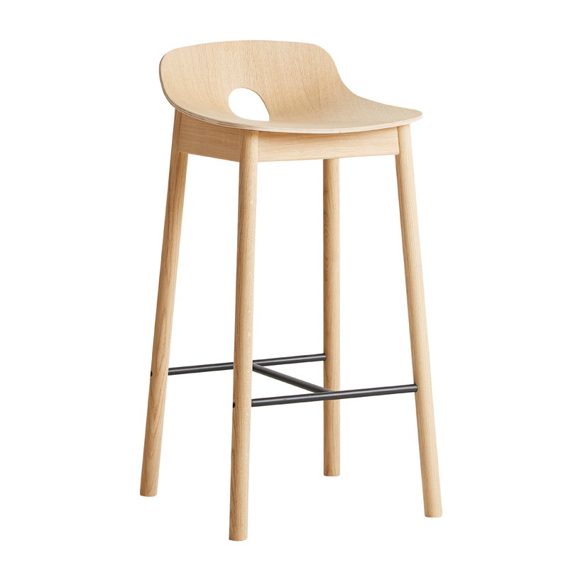 Woud Mono bar stool 65 cm, oak