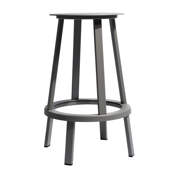Hay Revolver bar stool, grey