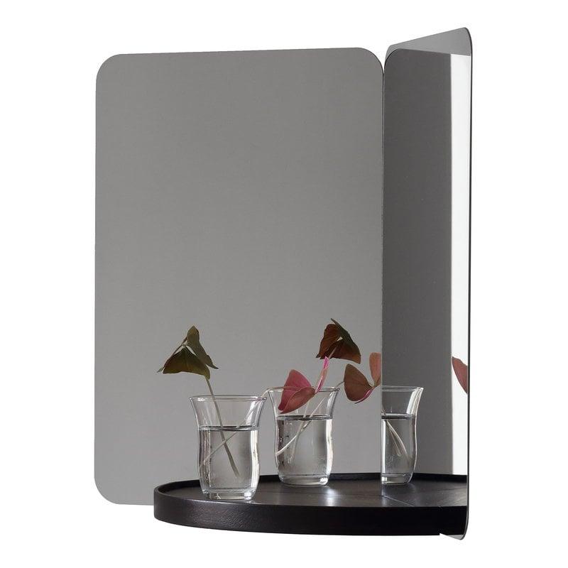 Artek Specchio 124 degrees, medio, mensola nera